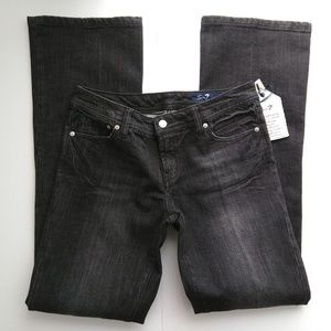 Seven7 Premium Denim Flare Jeans Long Black